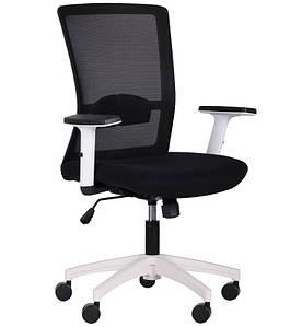 Кресло Uran White сиденье Сидней 07/спинка Сетка HY-100 черная
