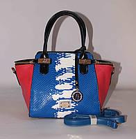 Женская сумочка Velina Fabbiano 77183 Средний, Змеиный принт, Синий