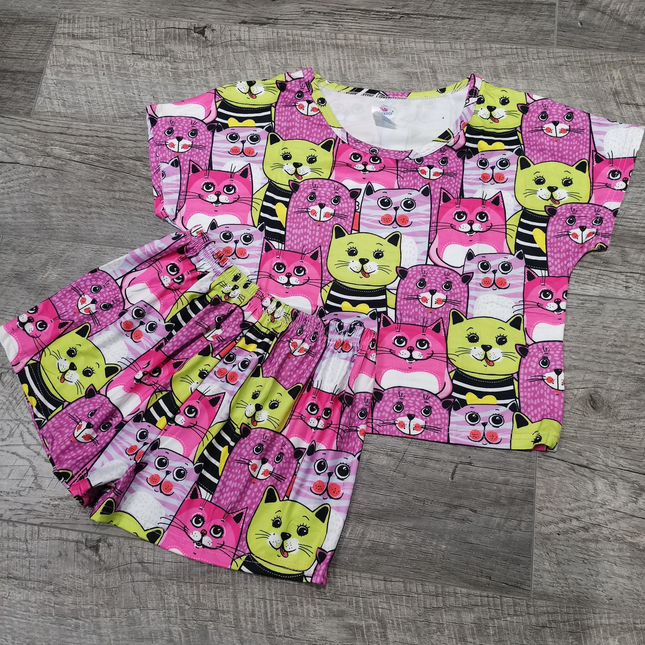 Молодежная пижама шорты + топик 30-2