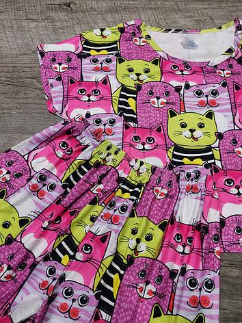 Молодежная пижама шорты + топик 30-2, фото 2
