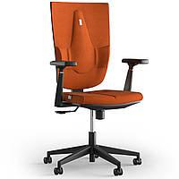 Кресло KULIK SYSTEM SPACE Ткань без подголовника без строчки Оранжевый 19-909-BS-MC-0510, КОД: 1697065