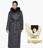 Воздуховик Braggart Angel's Fluff 31012   Зимняя женская куртка цвета графит