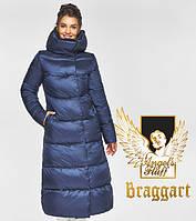 Воздуховик Braggart Angel's Fluff 45085  Зимняя женская куртка синий бархат