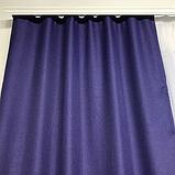 Сонцезахисні штори   Штори з мішковини   Готові штори з льону   100% захист від сонця   Фіолетові штори  , фото 4