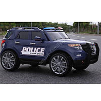 Детский электромобиль Полиция Ford Police (2 мотора, MP3, USB, FM, рация) Джип Bambi M 3259EBLR-4 Синий