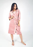 Мягкий и очень удобный женский халат на запах