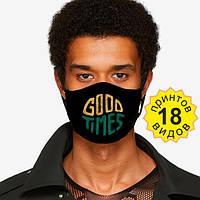 Защитная маска 2х слойная с принтом маски захистна маска