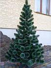 Сосна искусственная Заснеженная зеленая 2.2 м, новогодняя заснеженная сосна жилка-ПВХ с подставкой, фото 2