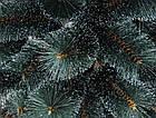 Сосна искусственная Заснеженная зеленая 2.2 м, новогодняя заснеженная сосна жилка-ПВХ с подставкой, фото 8