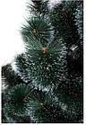 Сосна искусственная Заснеженная зеленая 2.2 м, новогодняя заснеженная сосна жилка-ПВХ с подставкой, фото 10