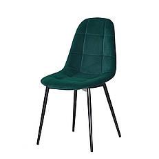Бархатный зеленый стул на черных металлических ножках Peter ML для уютных гостиных, стильных кафе, фото 3