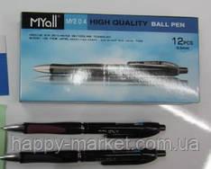 Ручка My-TECH ( дублікат 2240-BK) чорна /12уп, 60бл