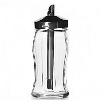 Сахарница с металлической крышкой-дозатором 240мл Pasabahce Black&White 80078 (1шт)