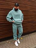 Зимний мужской спортивный костюм OverSize (blue), зимний мужской костюм оверсайз, фото 3