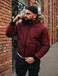 Мужская зимняя бордовая куртка, Jacket Winter (bordo), короткая зимняя куртка, фото 2