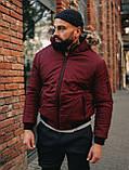 Мужская зимняя бордовая куртка, Jacket Winter (bordo), короткая зимняя куртка, фото 3