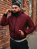 Мужская зимняя бордовая куртка, Jacket Winter (bordo), короткая зимняя куртка, фото 5