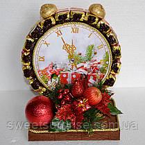 """Новогодняя композиция """"Часы из конфет"""", фото 2"""