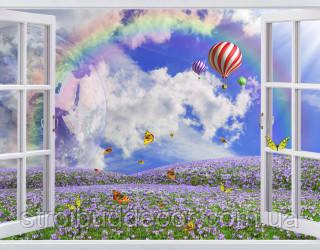 Фотообои вид из окна  разные  текстуры , индивидуальный размер