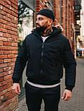 Мужская зимняя черная куртка, Jacket Winter (black), короткая зимняя куртка, фото 2