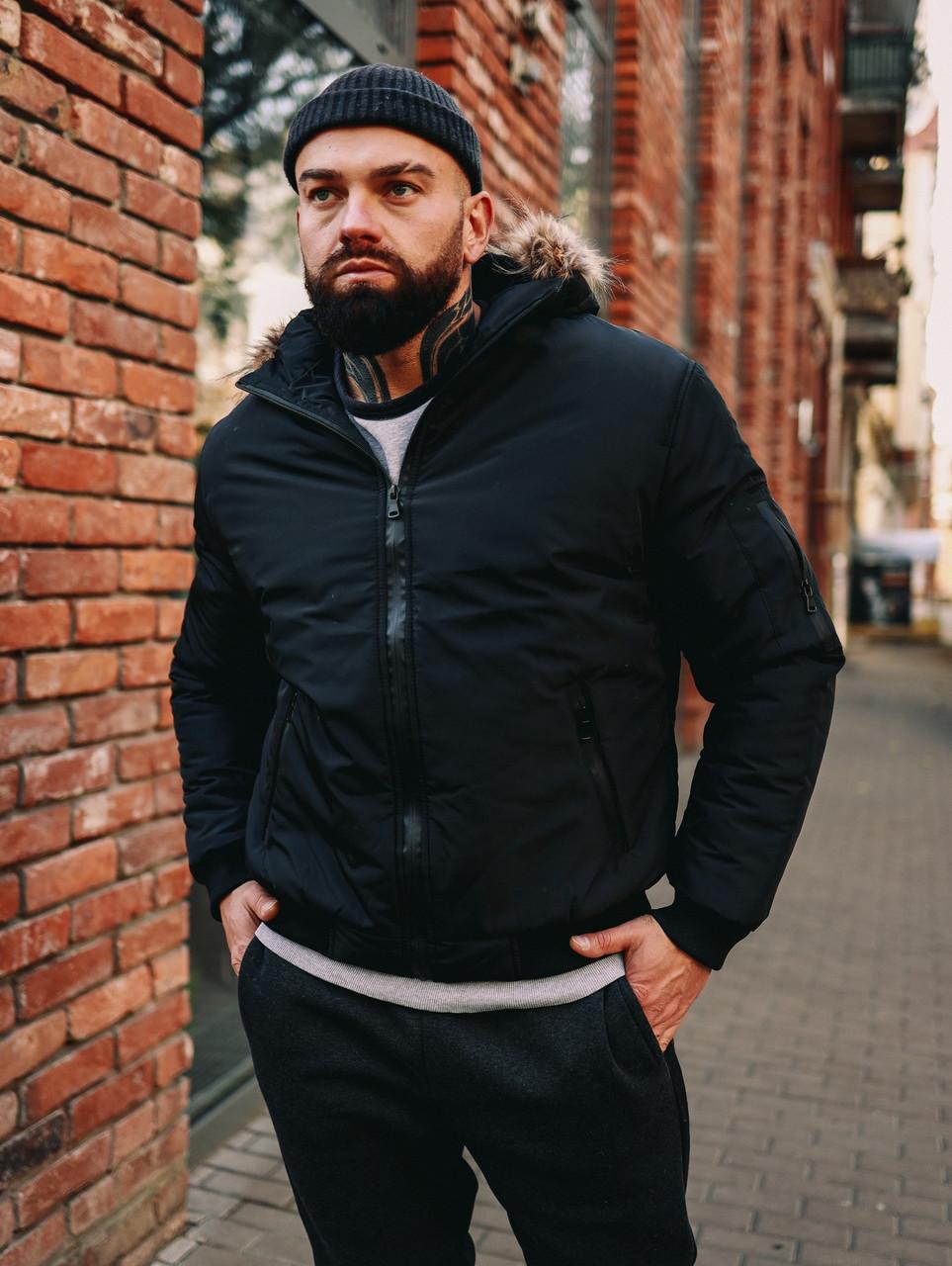 Мужская зимняя черная куртка, Jacket Winter (black), короткая зимняя куртка