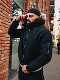Мужская зимняя черная куртка, Jacket Winter (black), короткая зимняя куртка, фото 3