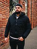 Мужская зимняя черная куртка, Jacket Winter (black), короткая зимняя куртка, фото 4