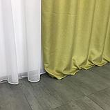 Сонцезахисні штори   Штори з мішковини   Готові штори з льону   100% захист від сонця   Оливкові штори  , фото 5