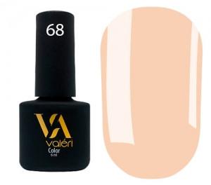 Гель-лак Valeri №068 (светлый оранжевый, эмаль), 6 мл