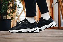 Мужские кроссовки Nike Tekno M2K в стиле найк текно черные (Реплика ААА+)