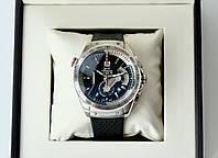 Наручные часы Tag Heuer carrera calibre 36 silver AAA мужские кварцевые с хронографом на каучуковом ремешке