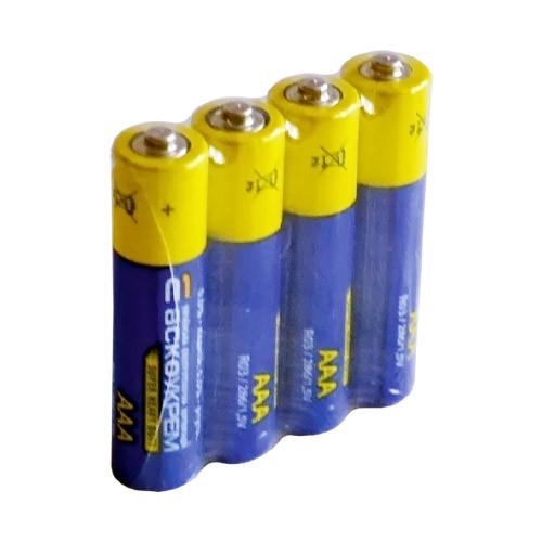 Солевые батарейки ААА микропальчиковые (мизинчиковая, минипальчиковая Аско-Укрем - 4 шт, ААА, R03