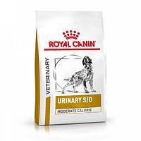 Корм 12 кг при мочекаменной болезни у собак Royal Canin Urinary S/O Moderate Calorie Dog
