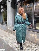 Пальто женская стеганое батал Ванесса