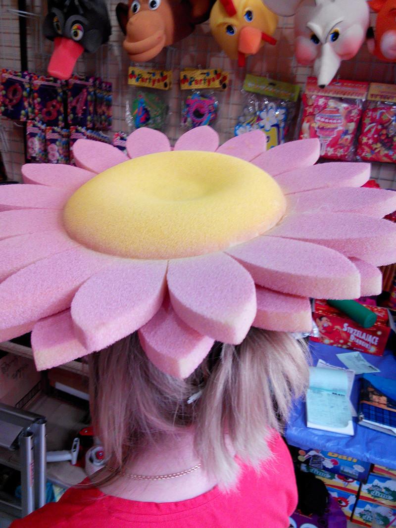Карнавальная шапка Цветочка из поролона для детей и взрослых