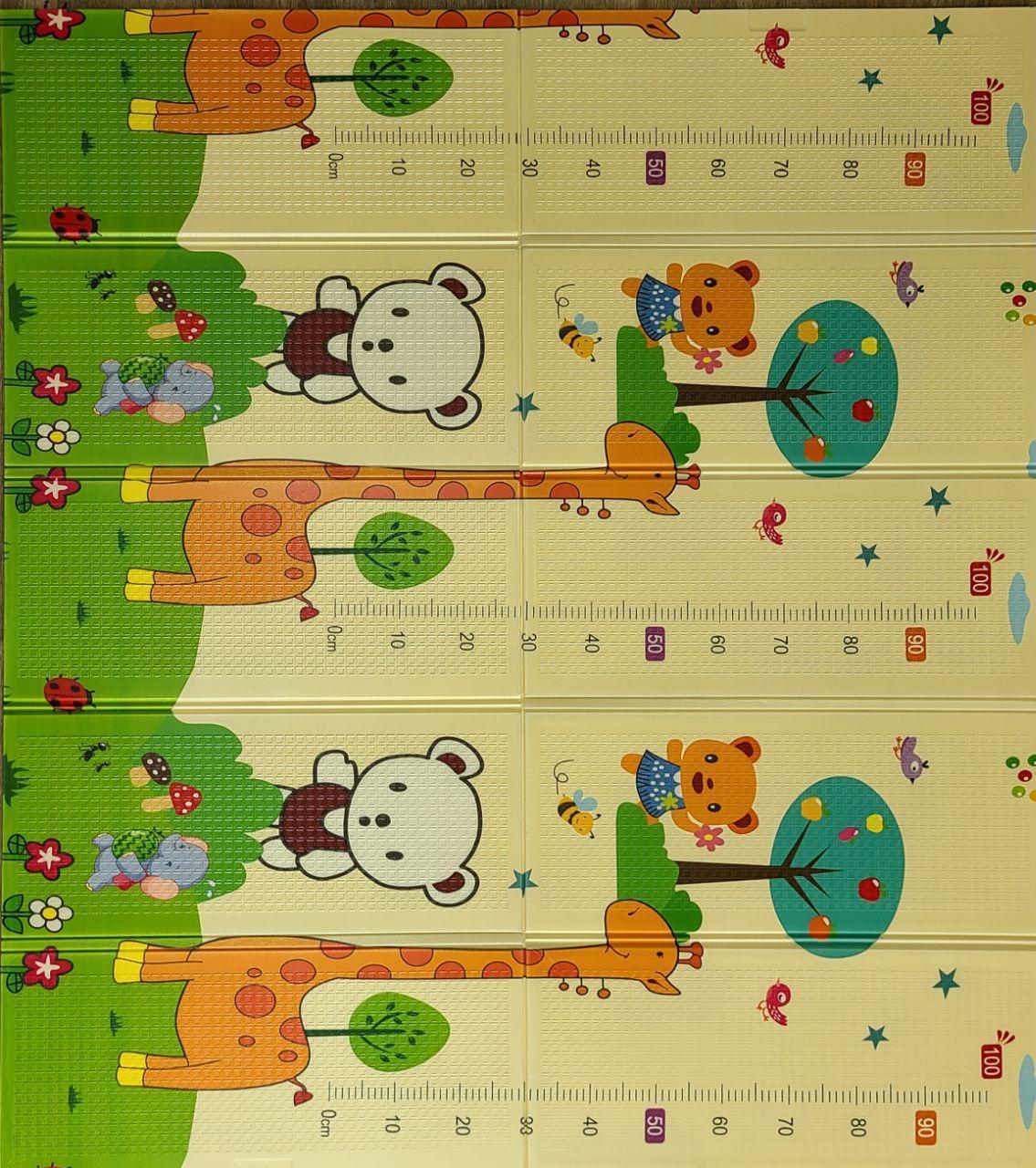 Розвиваючий двухстронний складаний дитячий ігровий термо килимок для повзання 1500*2000