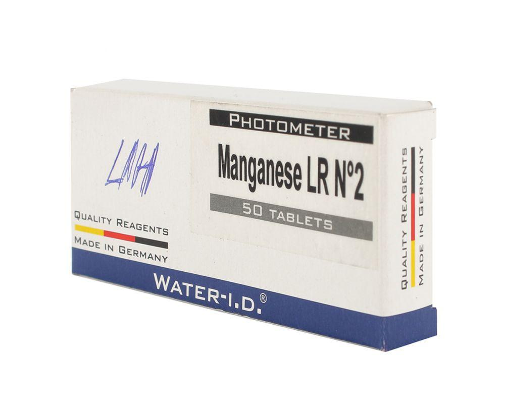 Таб. Manganese LR N2 (Марганец 0.2-5.0 мг/л) (50 таб/уп.) (10таб/шт) PrimerLab