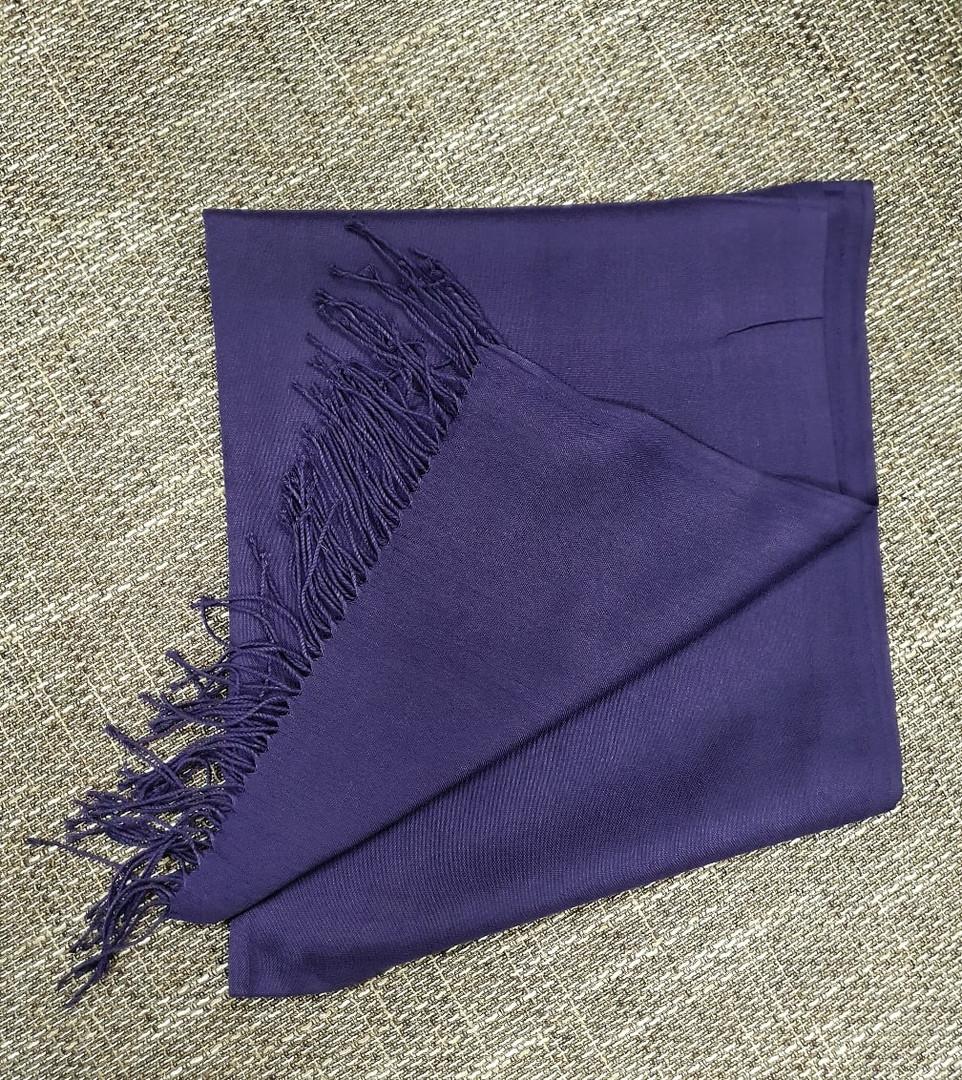 Жіночий палантин фіолетового кольору, бавовна