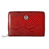 Женский портмоне кожаный с обложкой для док Karya 1147-019 красный лаковый