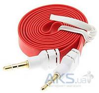 Аудиокабель Aksline AUX Budio Bable Noodle Big 3.5 -3.5 1m (цвета в ассортименте)