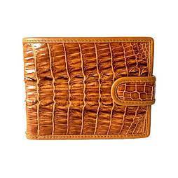 Чоловіче портмоне зі шкіри крокодила Mosart Custini 1395 рудий