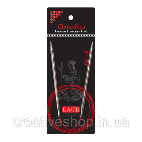 Спицы Chiaogoo Red Lace круговые (80 см) 3,5 мм