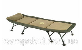 Кровать раскладушка Mivardi карповая рыбацкая Professional FLAT8 нагрузка 140кг