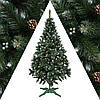 Ель искусственная Рождество 2м Элитная калина голубая шишки, фото 2