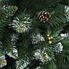 Ель искусственная Рождество 2м Элитная калина голубая шишки, фото 3