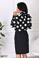 Женственная блузка в крупный горошек с 42 по 46 размер, фото 5