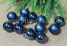 Игрушка новогодняя 4см нэви (темно-синий)