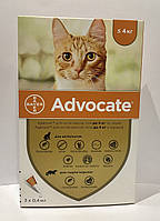 Advocate (Адвокат)  Bayer  капли для кошек до 4 кг (1 пипетка )