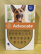 Advocate (Адвокат) капли для собак весом 25-40 кг за пипетку