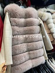 Куртка  с мехом песца, размеры 42-56